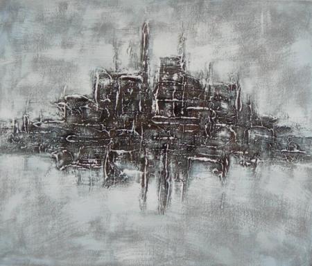 obraz Město v šeru