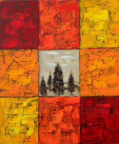 obraz Stromy v barvách
