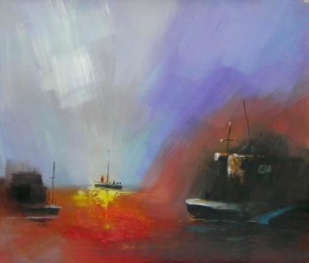 obraz Záře na moři