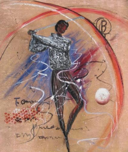 obraz Hráč golfu