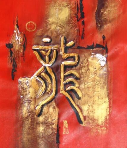 obraz Zlaté znaky