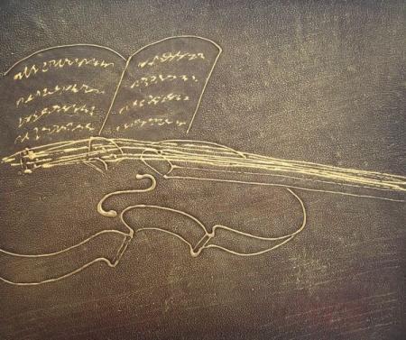 obraz Zlaté moderní housle