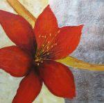 obraz Červený květ I