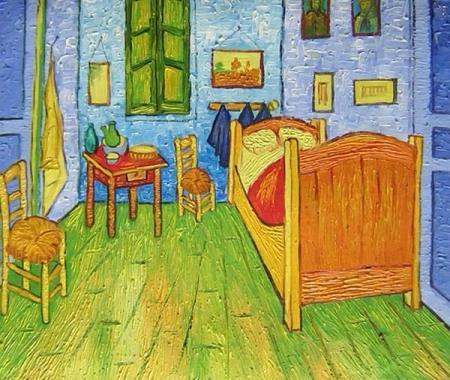 obrazy ručně malované - obraz Vincent Van Gogh - Van Goghova ložnice v Arles, obrazy do bytu