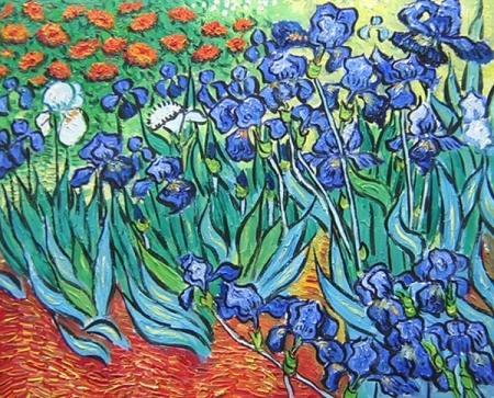 obrazy ručně malované - obraz Vincent Van Gogh - Kosatce, obrazy do bytu