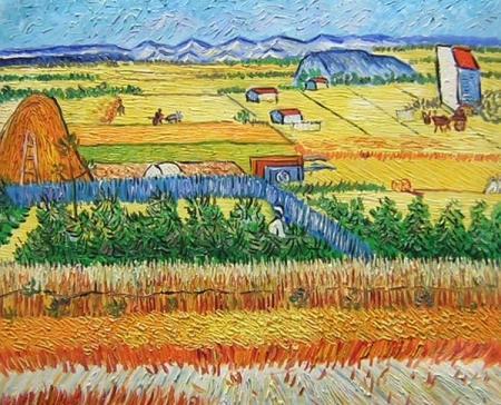 obrazy ručně malované - obraz Vincent Van Gogh - Pokojný život, obrazy do bytu