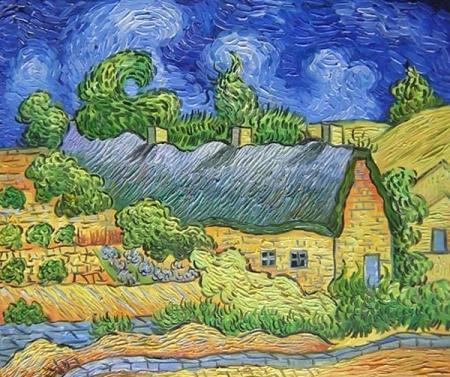 obrazy ručně malované - obraz Vincent Van Gogh - Venkov, obrazy do bytu