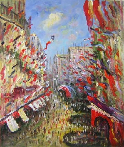 obraz Plná ulice