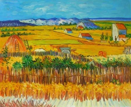 obrazy ručně malované - obraz Vincent Van Gogh - Doba žní, obrazy do bytu