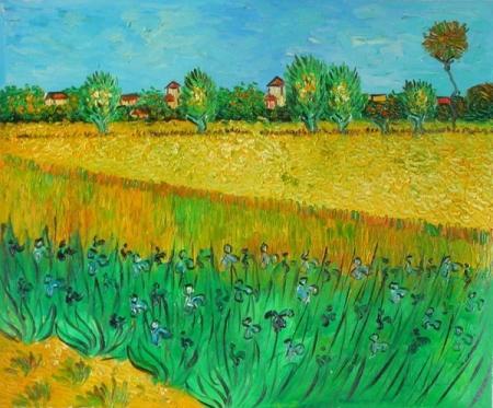 obrazy ručně malované - obraz Vincent Van Gogh - Kukuřičné pole, obrazy do bytu