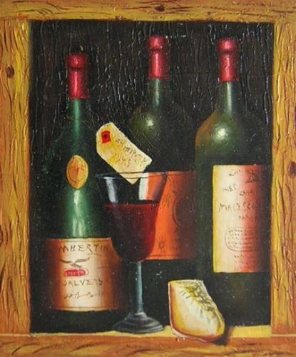 obraz Vinné láhve