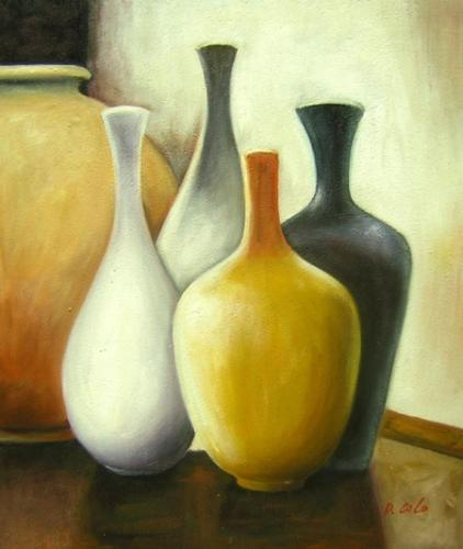 obraz Pět váz
