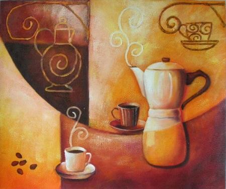 obraz Příprava kávy