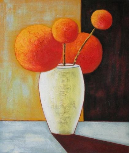 obraz Oranžové kulaté květiny