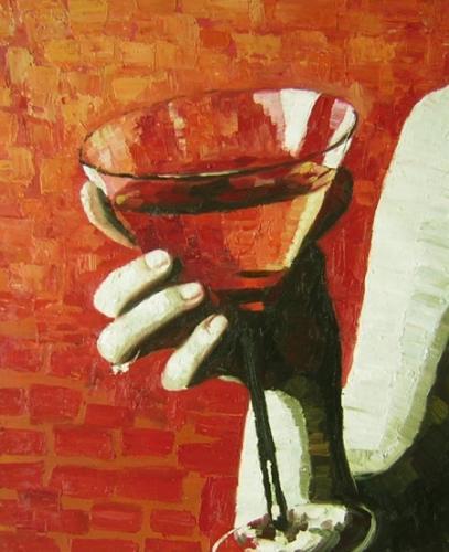 obraz Sklenice na martini