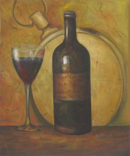 obraz Zátiší s červeným vínem