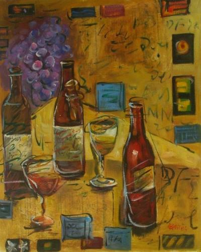 obraz Zátiší dávné víno