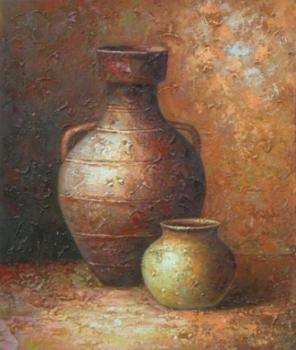 obraz Dvě nádoby