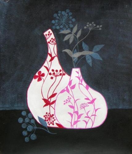 obraz Pokreslené vázy