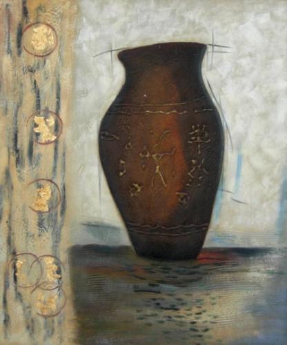 obraz Hnědá váza