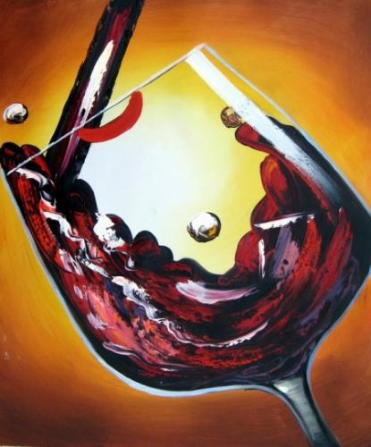 obraz Nalévání červeného vína