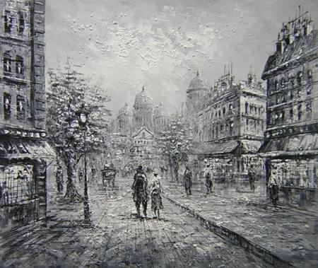 obraz Ulice v černobílém