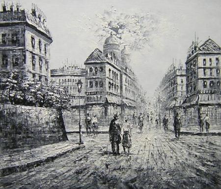 obraz Černobílá ulice