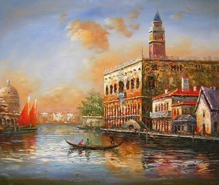 obraz Benátky při úsvitu