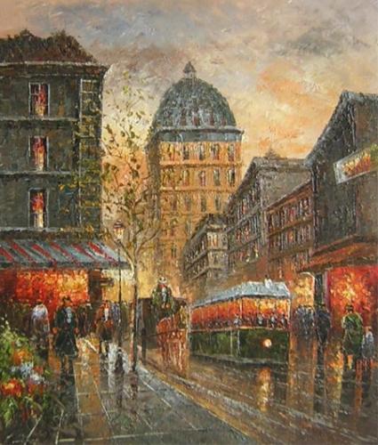 obraz Večerní sen Paříže