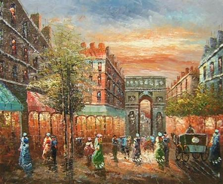 obraz Odpolední nákupy v centru