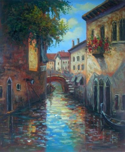 obraz Ve stylu Benátských ulic