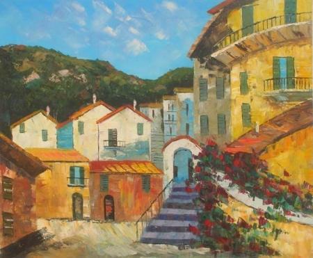 obraz Chorvatské město