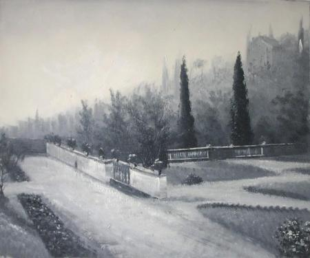 obraz Cesta parkem