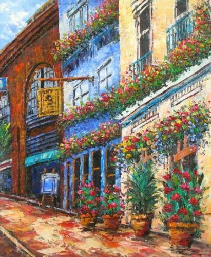 obraz Rozkvetlá ulice