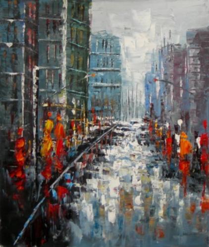 obraz Rušná ulice