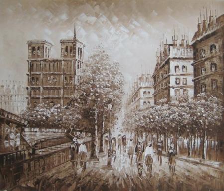 obraz Hnědá ulice
