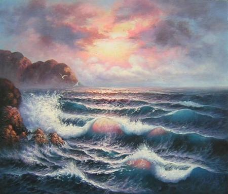 obraz Moře za úsvitu