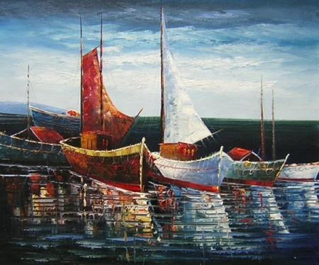 obraz Přístav plachetnic