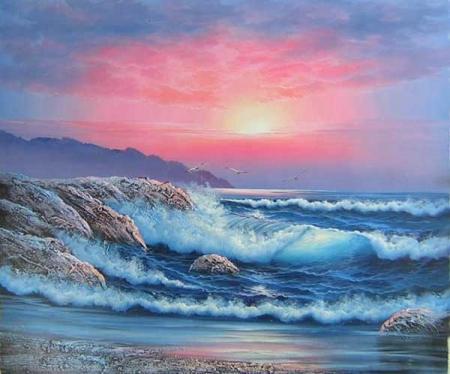obraz Východ slunce u moře