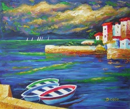 obraz Loďky ve větru