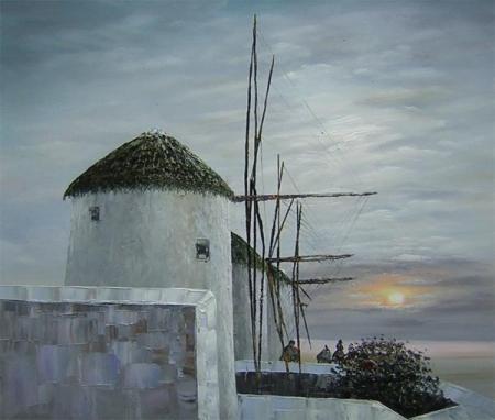 obraz Větrné mlýny