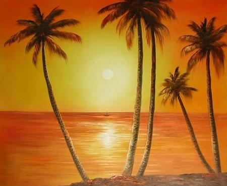 obraz Pláž při východu slunce