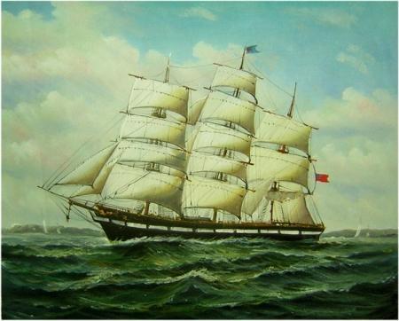 Ručně malovaný obraz: Plachetnice