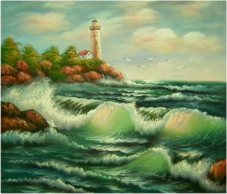 obraz Rozbouřené moře