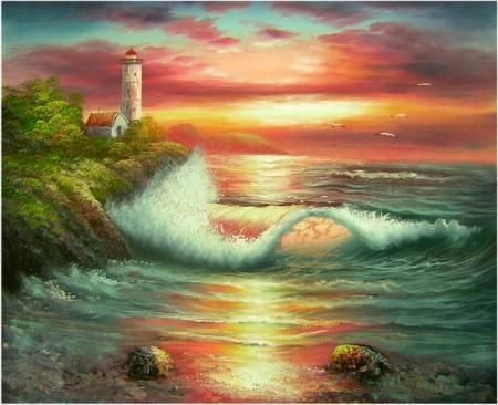 obraz Červánky na moři