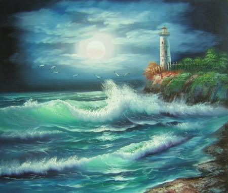 obraz Moře v noci