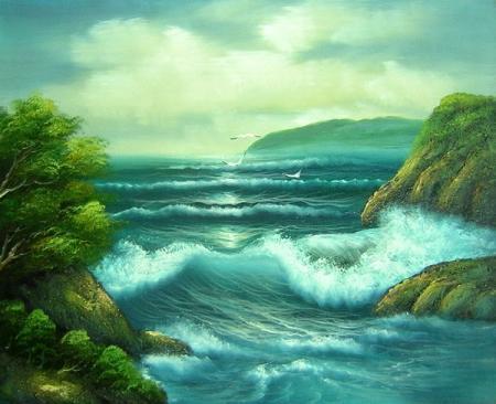 obraz Průliv moře