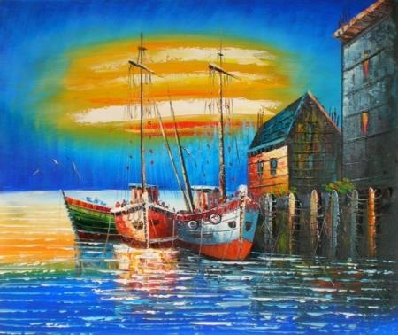 obraz Přístav u moře