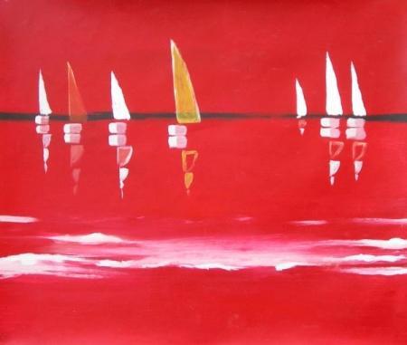 obraz Rudý závod