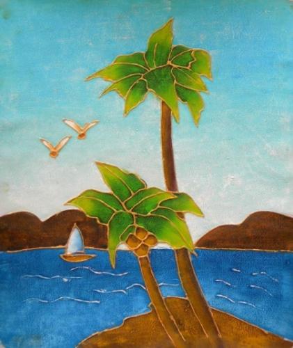 obraz Kokosové stromy